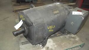 150 Hp Dc General Electric Motor 1750 Rpm 409at Frame Dpfv 500 V Arm