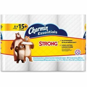 Procter Gamble Commercial Charmin Essentials Toilet Paper 1 ply 8pk ct White