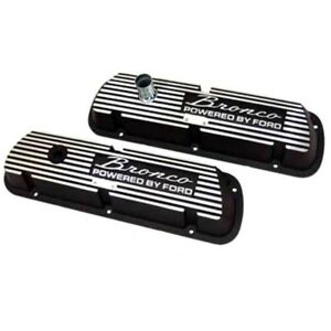 Small Block Ford 289 302 351w Engine Black Valve Covers Free Shippin Ships Today