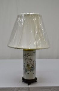 Antique Chinese Porcelain Hat Stand Table Lamp