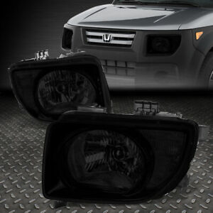 For 2003 2008 Honda Element Pair Smoked Housing Clear Corner Headlight lamp Set