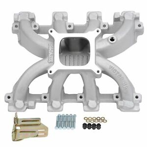 Edelbrock 29087 Victor Jr Cathedral Port Ls1 ls Carb Conversion Intake Manifold
