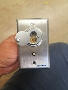 Securitron Mortise Key Switch With Lock Cylinder