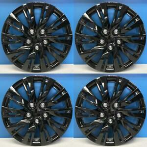 2012 2014 Toyota Camry Style 1037 16blk 16 Black Hubcaps Wheel Covers New Set