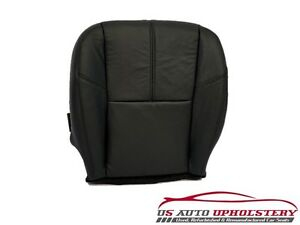 2010 Gmc Sierra 1500 Hd Slt Z71 4x4 Driver Side Bottom Leather Seat Cover Black