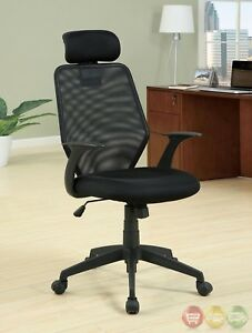 Cloverdale Black Office Chair With Headrest And Armrests Cm fc603