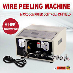 Computer Wire Peeling Stripping Cutting Machine 0 1 8mm Mechanical 10000mm