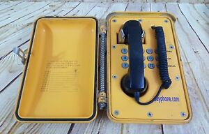 Enclosed Job Sight Weatherproof Tamper Proof Phone Set Heavy Duty Oil Rig