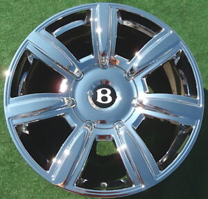 New Genuine Oem Factory Chrome Bentley Flying Spur 20 Inch Wheel Continental Gt