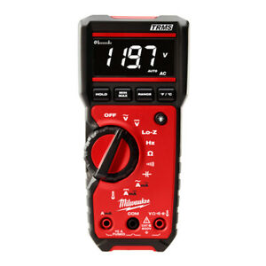 Milwaukee 2217 20nst 600v Nist Lo z Measuring True rms Digital Multimeter