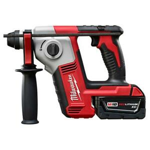 Milwaukee 2612 21 M18 18 volt 5 8 inch Sds Plus Rotary Hammer W Battery