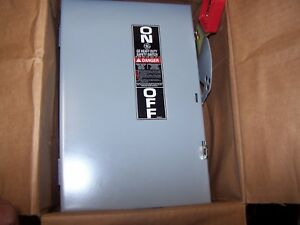 New Ge 30 Amp Fusible Dc Safety Switch Nema 1 Indoor 600 Vdc Th2261dc