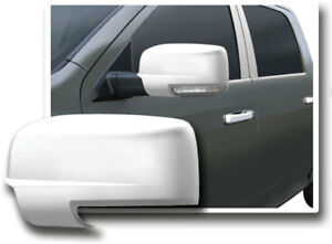 Fits Dodge Ram 1500 2009 2012 Abs Chrome Side Mirror Covers Overlay W Light Cut
