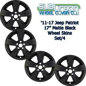 2011 2017 Jeep Patriot 7238mb 17 Matte Black Wheel Skins Hubcaps New Set 4