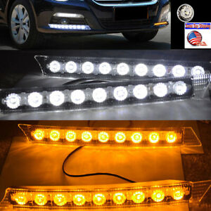 2pcs 9 Led Daytime Running Light Drl Daylight Kit Fog Lights For Audi C6 A6 S6