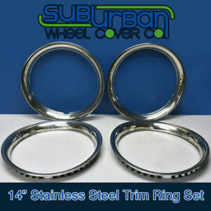 14 Stainless Steel Trim Rings 1 3 4 Depth Beauty Rings Part 1514s New Set 4