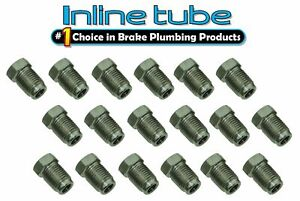 10mm X 1 0 Iso Bubble Flare Stainless Tube Nut Fitting 4 7mm Brake Line 18 Pack