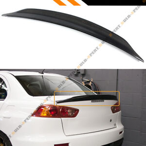 For 08 17 Mitsubishi Lancer Evo 10 Duckbill Highkick Carbon Fiber Trunk Spoiler
