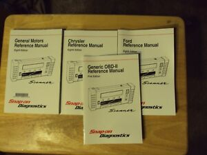Snap On Tools Gm Ford Chrysler Scanner Reference Manuals Eighth Edition