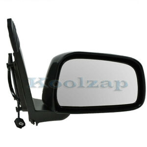 Tyc Power Black Manual Fold Mirror Right Passenger Side For 05 14 Frontier Truck