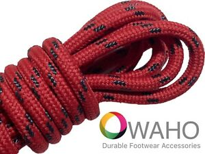 Heavy Duty Red Shoe Boot Laces made with Black Dupont™ Kevlar® $7.99