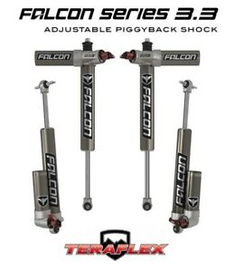 Teraflex Falcon 3 3 Front Rear Shocks For 1 5 2 5 Lift 07 18 Jeep Jk 2 Door