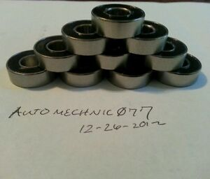 50x Sr6 2rs 3 8 x 7 8 x 9 32 Abec 5 Stainless Steel Bearings