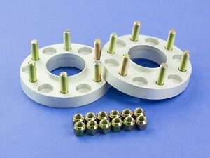 25mm 1 Silver Hubcentric Wheel Spacers Chevy 6x139 78 1 14x1 5