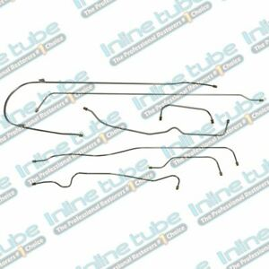 1939 Chevrolet All 112 3 Models Straight Front Axle Drum Brake Line Set 7p Oe