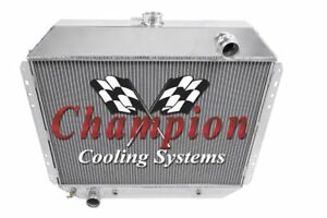 1973 1976 Ford F Series Truck All Aluminum Champion Cooling 3 Core Radiator