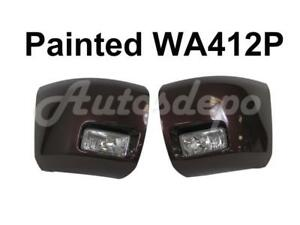 Painted Wa412p Front Bumper End Cap Fog Light 4pcs For 2008 2013 Silverado 1500
