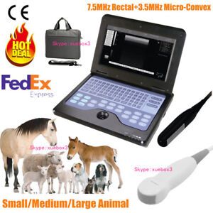 Veterinary Vet Portable Ultrasound Scanner Machine rectal micro convex 2 Probes
