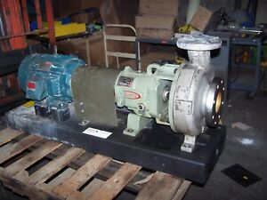 Durco Flowserve 10 Hp Stainless Steel Centrifugal Pump 2k4x3 10 92 74 Tdm