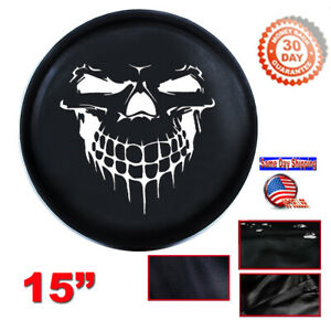 Black Skull Spare Tire Wheel Cover Protector 28 29 M For Jeep Liberty Cherokee