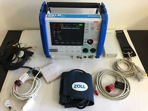 Zoll M Series Cct 12 Lead Ecg Nibp Spo2 Etco2 Ibp Capnostat Pacing Analyze Case