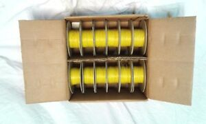 New Box Mil Spec Electrical Wire Mil w 16878 1 500 Yellow 26 Awg Copper 12 Roll