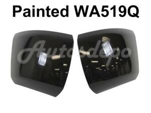 Painted Wa519q Front Bumper End Cap Lh Rh For 2008 10 Silverado 1500 W o Hole