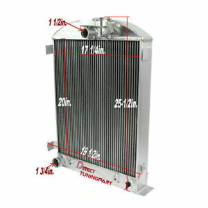 3 Row Aluminum Radiator For Ford Model a Ford Grill Shells 1928 1929