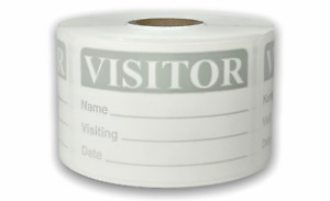 Grey 2x3 Visitor Identification Name Tag Badge Labels 6 Rolls 500 roll