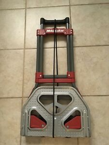 Milwaukee Hand Truck 73777 Fold Up Hand Truck 150 Lb Capacity Red Wheels