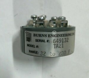 Burns Engineering Inc 2 wire Transmitter Module Ta21 32 280 Output 4 20ma