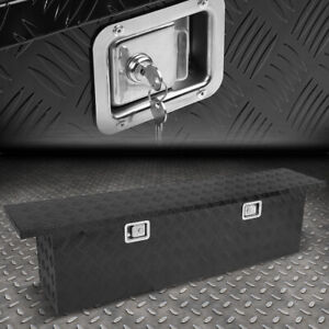 63 x12 x16 5 black Aluminum Pickup Truck Trunk Bed Tool Box Trailer Storage lock