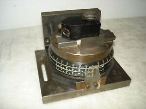 Newbould Indexer Grinding Wheel Angle Dresser Degrees Minutes Seconds Works Exc