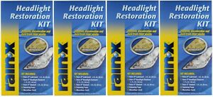 Rain x Headlight Restoration Kit For Clearer Headlights Pack Of 4