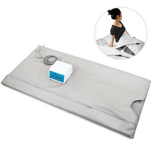 New 3 Zone Digital Far Infrared Slimming Sauna Blanket Weight Lose Detox Spa