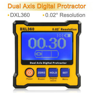 Dxl360 Digital Protractor Inclinometer Level Box Double Meter Axis Angle Sensor