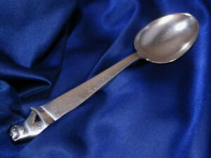 Marthinsen Sterling Silver Figural Youth Spoon Good Estate Condition