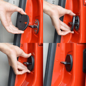 4x Car Door Lock Protective Buckle Trim Cover Stickers For Dodge Caliber