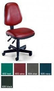 Ofm Office Chairs 119 vam Adjustable Task Vinly Armless Chair Lumbar Support