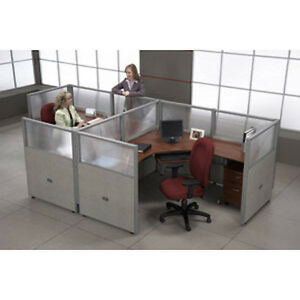 Ofm Rize Workstations R1x2 4772 p Cubicle Work System With Transluscent Polycarb